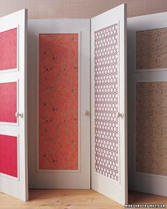 papered door panels